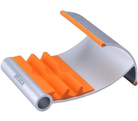 AKASA stojánek na tablet/iPad LEO / AK-NC054-OR / hliníkový / stříbrný/oranžový
