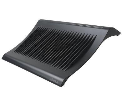 "AKASA chladič pro notebooky do 15"" / AK-NBC-03BK / 2x USB / plast / černý (AK-NBC-03-BK)"