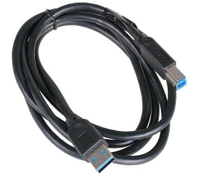 AKASA kabel USB Typ-A(M) na USB Typ-B(M) / AK-CBUB01-15BK / černý / 1,5m