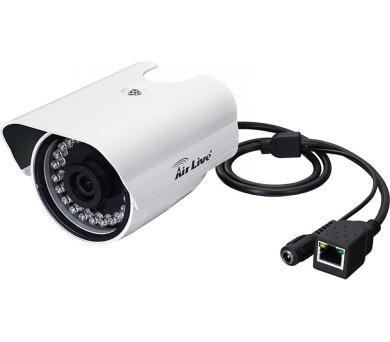 AirLive BU-2015/ IP kamera/ venkovní/ H.264/ 2MPix/ 1920x1080/ 15M IR přísvit/ 802.3af POE/ 30 FPS při 1080p
