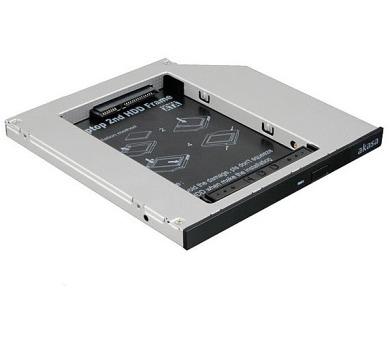 "AKASA box pro 2,5"" HDD místo SATA mechaniky do notebooku / AK-OA2SSA-03 / 7 a 9,5 mm + DOPRAVA ZDARMA"