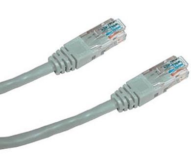 DATACOM Patch kabel UTP CAT5E 10m (x) šedý křížený