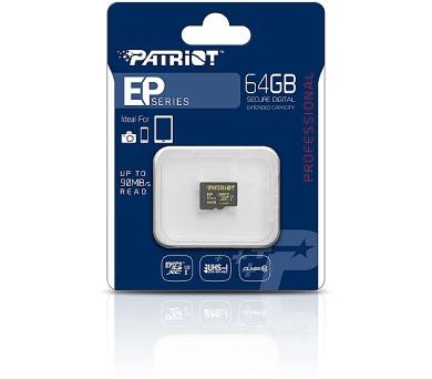 PATRIOT 64GB Micro SDHC Card / Class 10 / EP 4K U3 / 90MB/s + 45MB/s