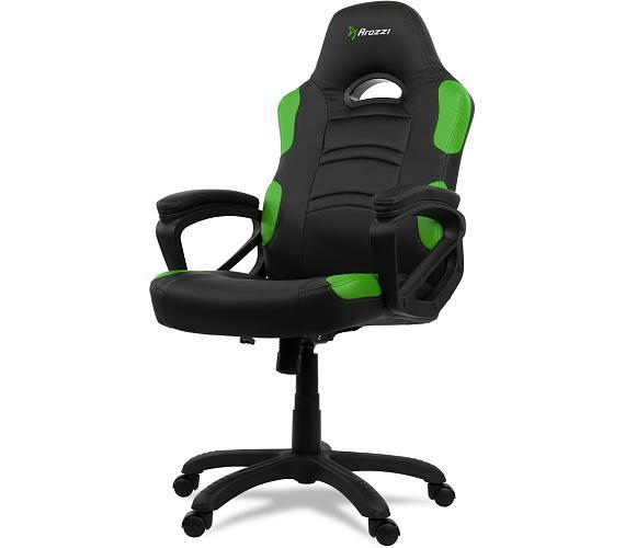 AROZZI herní židle ENZO/ černozelená (ENZO-GN)