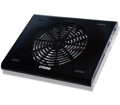 """CRONO CB158/ aktivní chladící podložka pro notebook do 15,6""""/ USB/ černá (CB00158)"""