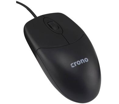 CRONO myš OP-639/ drátová/ 1000 dpi/ USB/ černá
