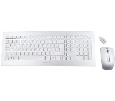 CHERRY set klávesnice + myš DW 8000/ bezdrátový/ USB/ bílostříbrný/ CZ+SK layout (JD-0300CS)