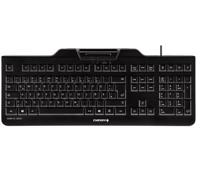 CHERRY klávesnice se čtečkou karet KC 1000 SC/ USB/ ISO 7816 podporované karty/ černá/ EU layout (JK-A0100EU-2)