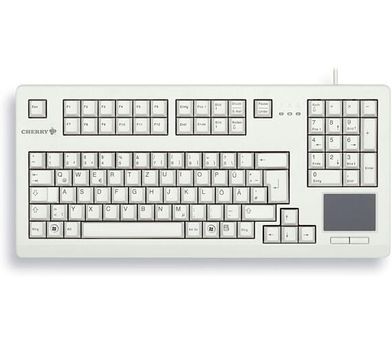 CHERRY klávesnice G80-11900 / touchpad / drátová / USB 2.0 / bílá / EU layout (G80-11900LUMEU-0)