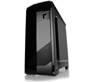 CRONO skříň Mini tower MT-47/ bez zdroje/ 2x USB 2.0/ čtečka karet/ černý (CR-MT47)