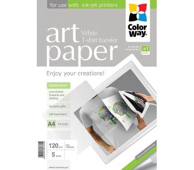 COLORWAY nažehlovací papír/ na světlý textil/ 120g/m2