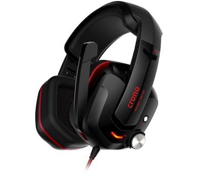 CRONO headset Atropos/ gaming/ drátová sluchátka + mikrofon/ 7.1 zvukový efekt/ USB/ 95 dB/ černý