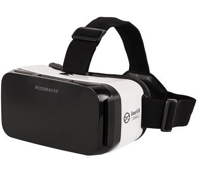 """BeeVR Moonraker brýle pro virtuální realitu pro telefony od 4,5"""" do 6"""" / černo-bílé"""