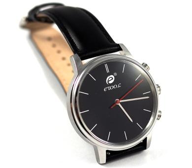 Deveroux etool SW9 - stříbrné chytré hodinky s měřením kroků a tepu + DOPRAVA ZDARMA