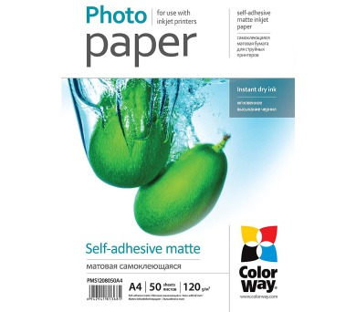 COLORWAY fotopapír/ matte self-adhesive 120g/m2