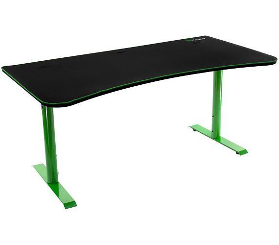 AROZZI herní stůl ARENA Gaming Desk/ černozelený (ARENA-GREEN)