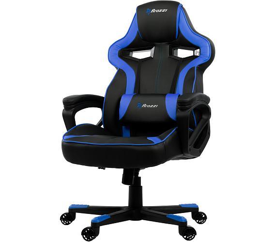 AROZZI herní židle MILANO/ černomodrá (MILANO-BL)