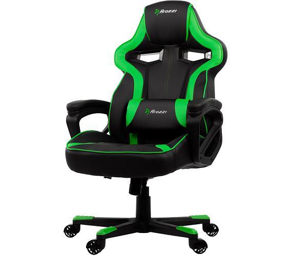 AROZZI herní židle MILANO/ černozelená (MILANO-GN)