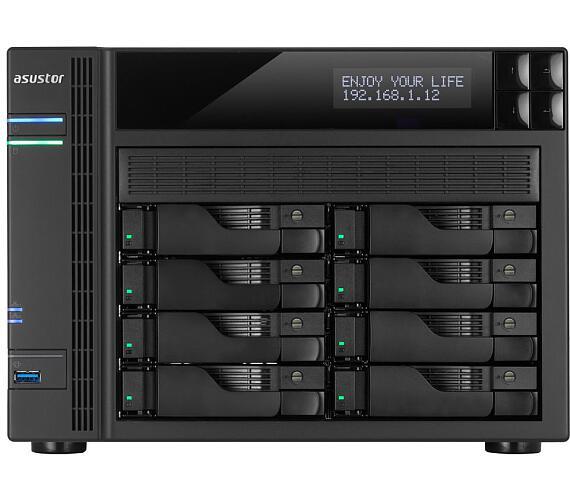"Asustor NAS AS6208T / 8x 2.5""/3.5"" SATA III/ Intel Celeron 1.6 GHz/ 4GB/ 4x GbE/ 2x USB 3.0/ 2x USB 2.0/ eSATA/ HDMI + DOPRAVA ZDARMA"