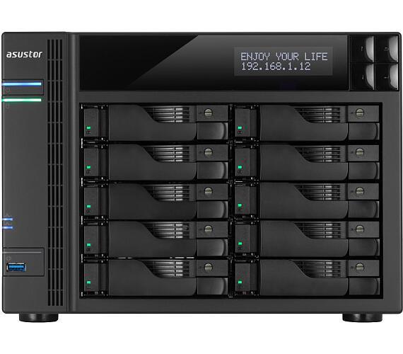"Asustor NAS AS6210T / 10x 2,5""/3,5"" SATA III/ Intel Celeron 1.6 GHz/ 4GB/ 4x GbE/ 2x USB 3.0/ 2x USB 2.0/ eSATA/ HDMI + DOPRAVA ZDARMA"
