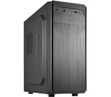 CRONO skříň Middle Tower MT-70/ bez zdroje/ 2x USB 2.0/ černý