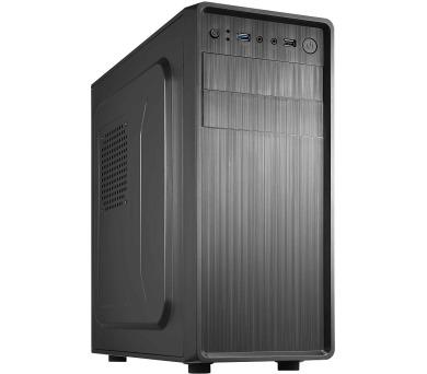 CRONO skříň Middle Tower MT-52/ bez zdroje/ 2x USB 2.0/ černý (CR-MT52)