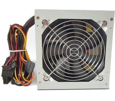 CRONO zdroj PS400Plus/Gen2/ 400W/ 12cm fan/ 4x SATA/ druhá generace/ aktivní PFC/ retail balení/ 85+ Bronze/ šedý