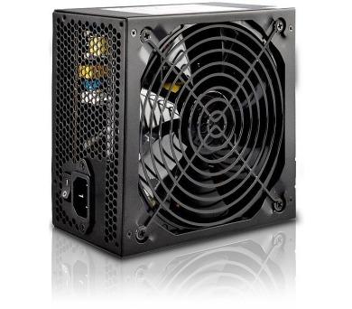 CRONO zdroj PS600Plus-B/Gen2/ 600W/ 14cm fan/ 4x SATA/ druhá generace/ aktivní PFC/ retail balení/ 85+ Bronze/ černý