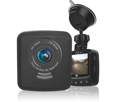 CEL-TEC digitální kamera do auta E09W FULL HD/ GPS/ Wi-Fi/ G-senzor/ černá