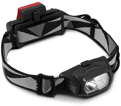 CEL-TEC čelová svítilna HL300/ 3.7V/ 1x 300lm + 1x červená LED 3lm/ voděodolná/ černá