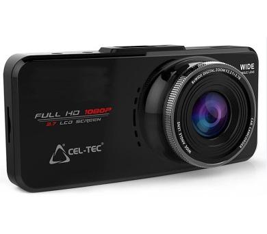 """CEL-TEC digitální kamera do auta E08s GPS Black Elegance 2016/1920x1080/2,7"""" LCD/GPS/G-senzor/micro SD slot/černá"""