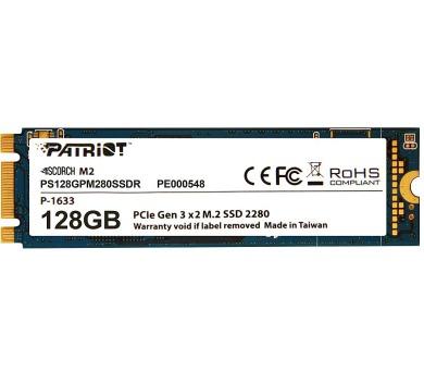 PATRIOT SCORCH 128GB SSD / Interní / M.2 PCIe Gen 3 x 2 NVMe 1.2 / 2280 (PS128GPM280SSDR)