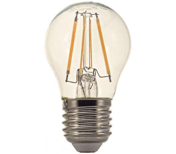 TESLA LED žárovka CRYSTAL RETRO mini BULB/ E27/ 4W/ 230V/ 470lm/ 2700K/ teplá bílá/ čirá (MG2