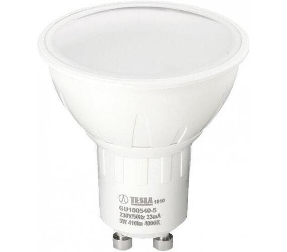 TESLA LED žárovka/ GU10/ 5W/ 230V/ 410lm/ 4000K/ denní bílá (GU100540-5)