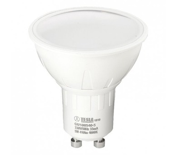 TESLA LED žárovka/ GU10/ 5W/ 230V/ 410lm/ 4000K/ studená bílá (GU100540-5)