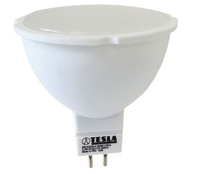 TESLA LED žárovka/ GU5,3/ MR16/ 3,5W/ 12V/ 230lm/ 3000K/ teplá bílá (MR163530-4)