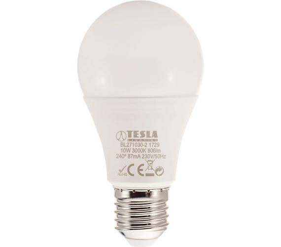 TESLA LED žárovka BULB/ E27/ 10W/ 230V/ 806lm/ 3000K/ teplá bílá (BL271030-2)