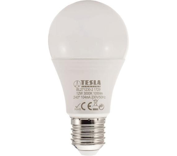 TESLA LED žárovka BULB/ E27/ 12W/ 230V/ 1055lm/ 3000K/ teplá bílá (BL271230-2)
