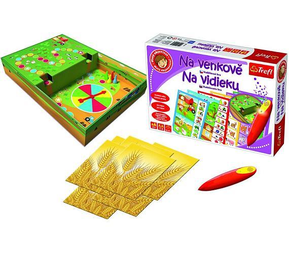 Malý objevitel Na venkově + kouzelná tužka edukační společenská hra v krabici 33x23x6cm