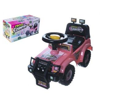 Odrážedlo auto Cross country růžové 53x48x26cm v krabici od 12 do 35 měsíců