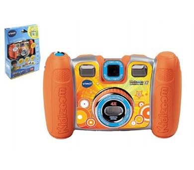Kidizoom Twist Plus X7 Vtech fotoaparát s funkcemi oranžový plast 15cm na baterie v krabičce 21x29cm + DOPRAVA ZDARMA
