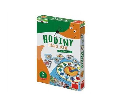 Hodiny lišácké učení pro školáky naučná hra v krabici 19x27,5x4cm 6+