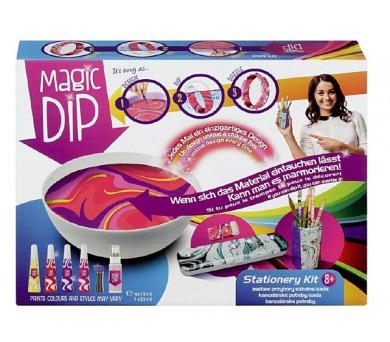 Kreativní sada Magic Dip malování s příslušenstvím kancelářské potřeby v krabici 27,5x20,