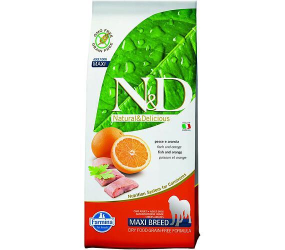 N&D Grain Free Dog Adult Maxi Fish & Orange 12 kg