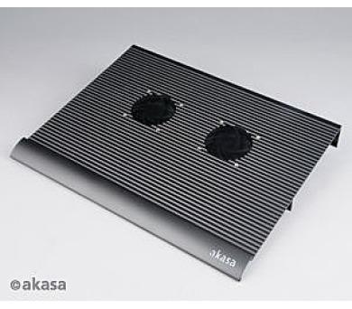 "AKASA - 17"" klasik - NB podložka - 2 x 7 cm fan + DOPRAVA ZDARMA"