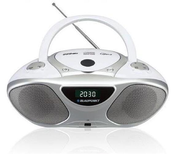 BLAUPUNKT BB14WH FM PLL CD/MP3/USB/AUX bílý + DOPRAVA ZDARMA