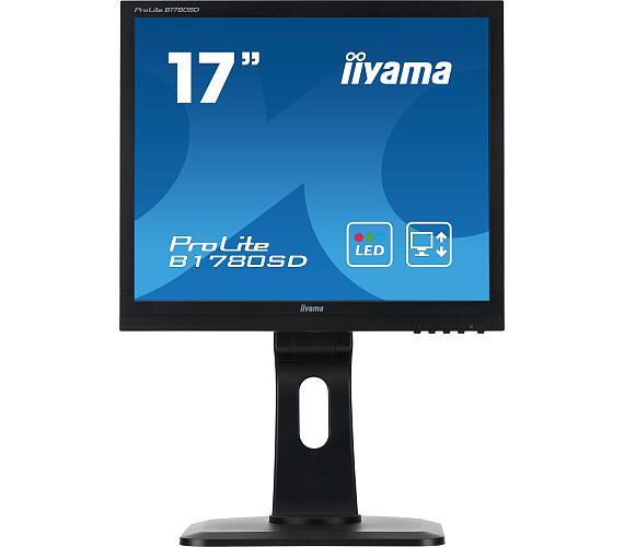 iiyama Prolite B1780SD-B1 - 5ms,250cd/m2,1000:1,5:4,VGA,DVI,repro,pivot,výšk.nastav.,černý + DOP