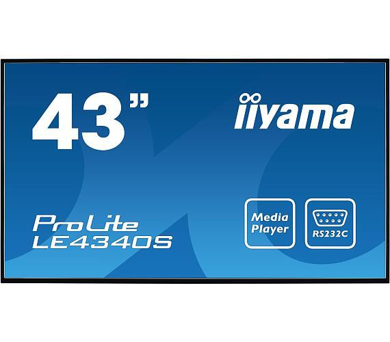 iiyama ProLite LE4340S-B1 -FullHD,AMVA + DOPRAVA ZDARMA