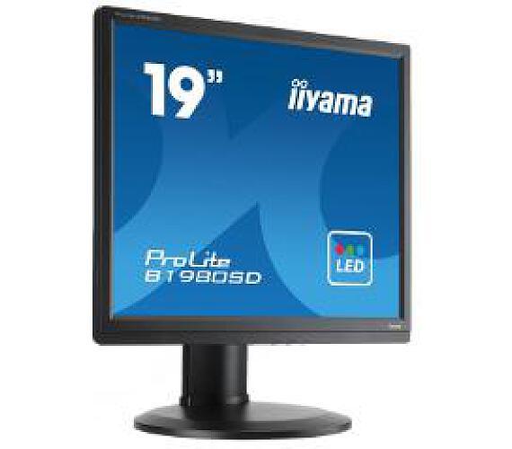iiyama Prolite B1980SD-B1 - 5ms,250cd/m2,1000:1,5:4,VGA,DVI,repro,pivot,výšk.nastav.,černý + DOPRAVA ZDARMA