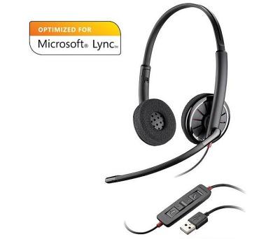 Plantronics náhlavní souprava na obě uši se sponou - Microsoft (BLACKWIRE C320-M) + DOPRAVA ZDARMA